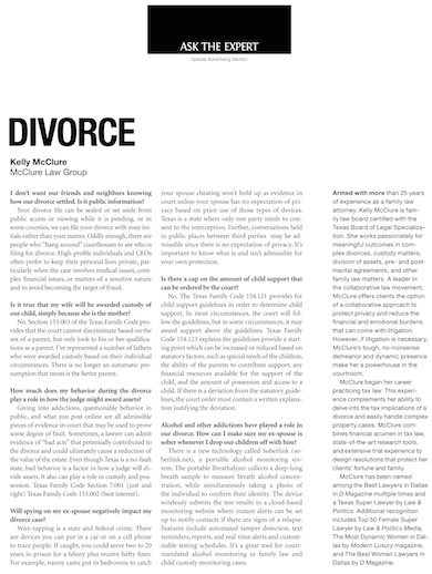D CEO April 2014 - Ask the Expert - Divorce