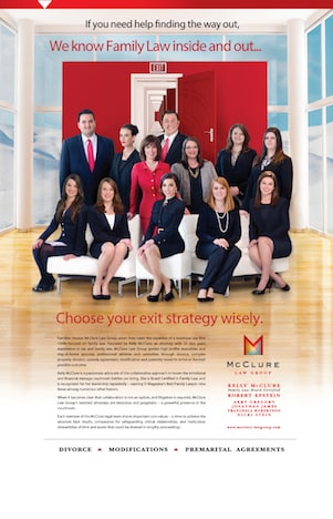 McClure Law Group legal team featured in Dallas Bar publication ad Headnotes July 2013